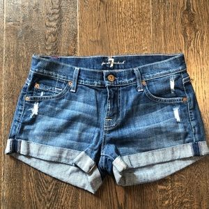 7 for all Mankind Rollup Jean Shorts
